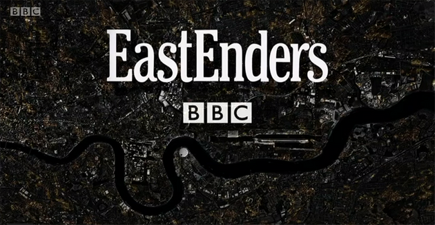 The EastEnders title card was given a night-time makeover for the 35th anniversary