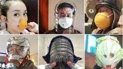 マスク品切れの中国で、手作りマスクを使う人々の涙ぐましい努力(写真)