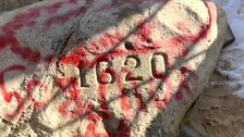 Legendäre Plymouth Rock, Andere Seiten mutwillig Zerstört Vor 400th Anniversary