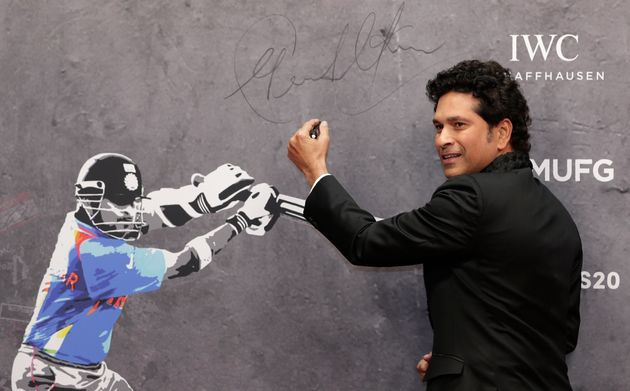 Sachin Tendulkar arrives for the 2020 Laureus World Sports Awards in Berlin, Germany, Monday, February...