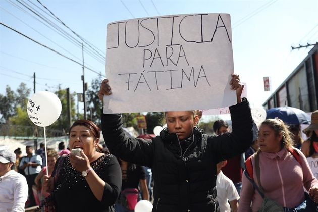 Habitantes protestan este lunes para pedir justicia tras el asesinato de la pequeña Fátima Cecilia Aldriguett,...
