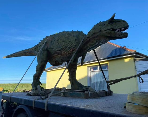 Compra al figlio un dinosauro giocattolo, ma gli recapitano