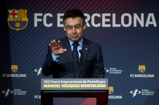 El presidente del FC Barcelona, Josep Maria