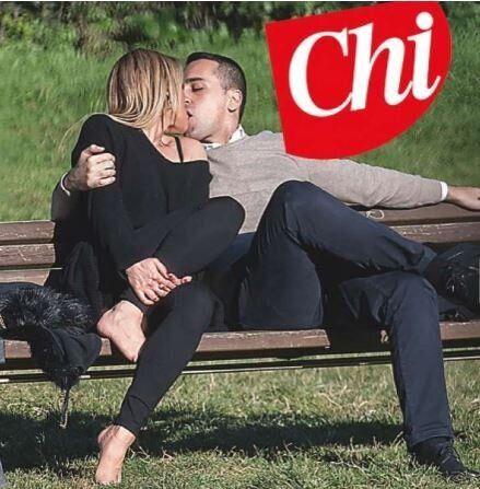 Il bacio di San Valentino tra Virginia Saba e Luigi Di Maio