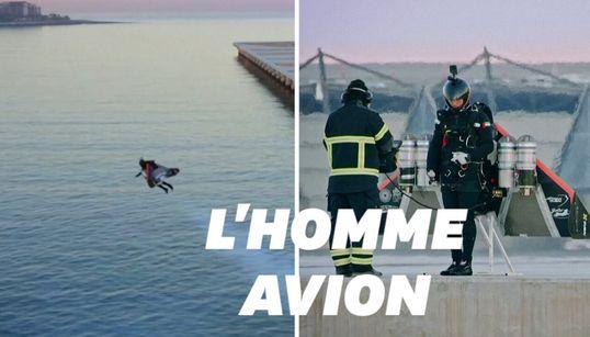 """Cet """"homme avion"""" français a volé à 1800 mètres d'altitude, une"""