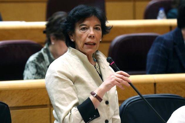 La ministra de Educación, Isabel