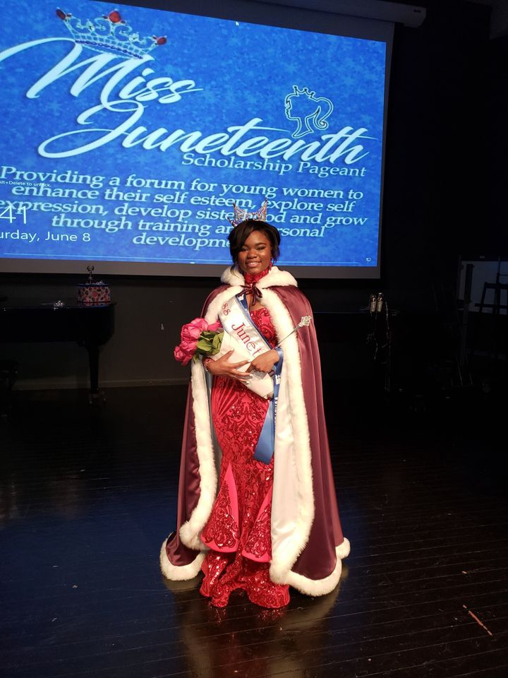 Triniti Franklin is the 2019 queen of the Miss Juneteenth pageant.