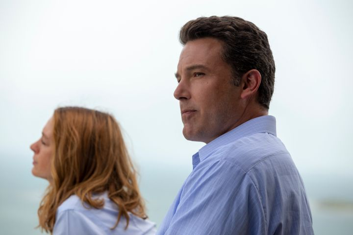 """Hathaway and Ben Affleck in """"The Last Thing He Wanted"""""""