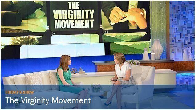 Hablando sobre mi virginidad con Katie Couric en su programa en 2014.
