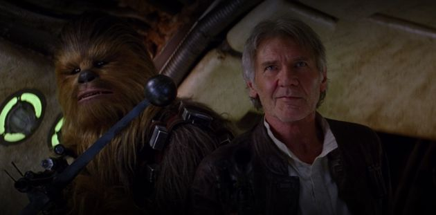 This is what happens when Harrison Ford is forced to answer a question on the