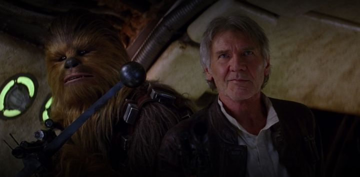 This is what happens when Harrison Ford is forced to answer a question on the Force.