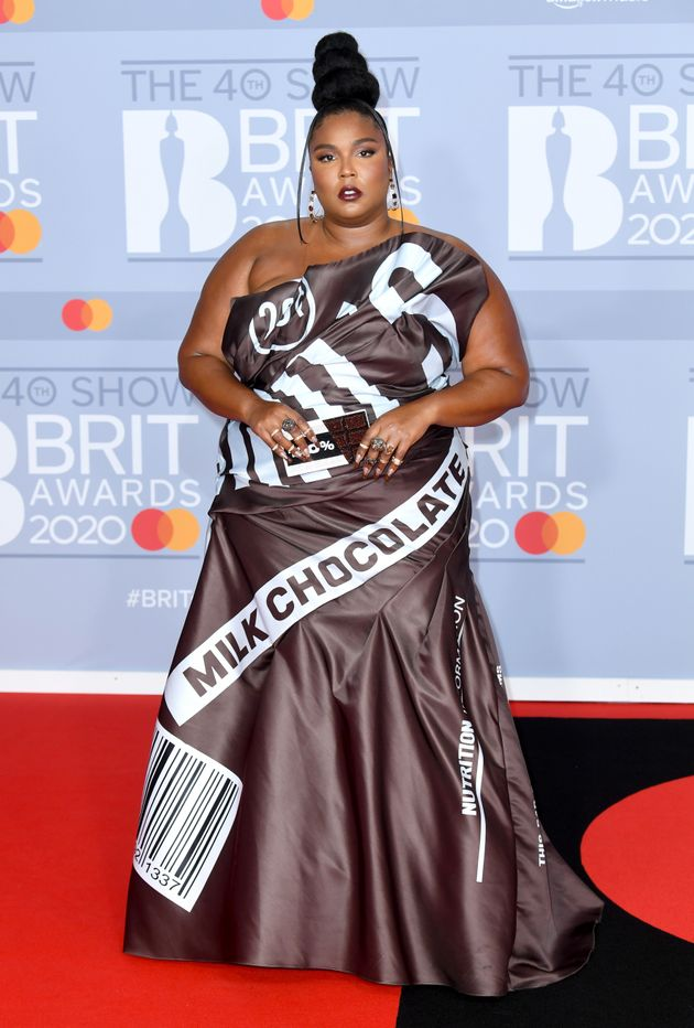 Lizzo arrived at the Brit Awards in a chocolate