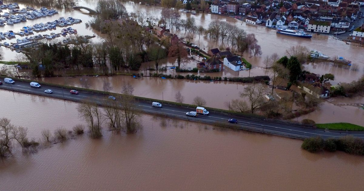 Two Towns Urged To Evacuate Amid Flood Fears As Rivers Rise To Record Levels Across UK