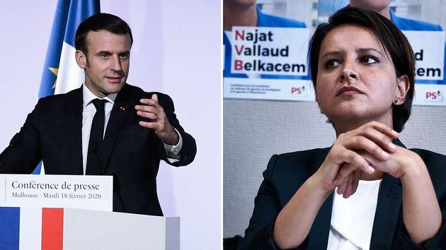 Najat Vallaud-Belkacem n'a pas du tout apprécié la manière dont Emmanuel Macron s'est approprié la fin...
