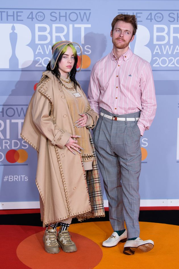 Billie Eilish and her brother, Finneas, at the Brit