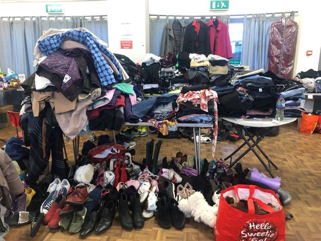 Donations at Taff's Well village hall for those affected by Storm