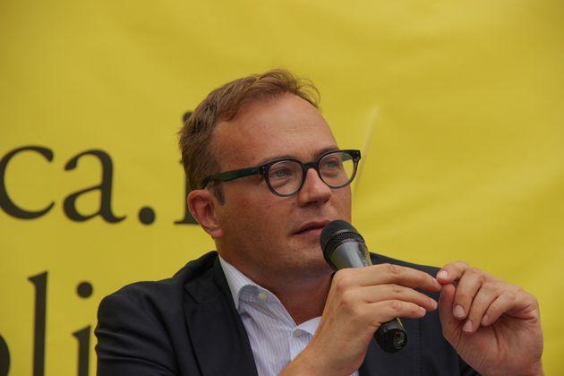 Tommaso Cerno at the 2013 Politics Festival in Mestre (Venice) (Photo by Giulia Candussi/Corbis via Getty