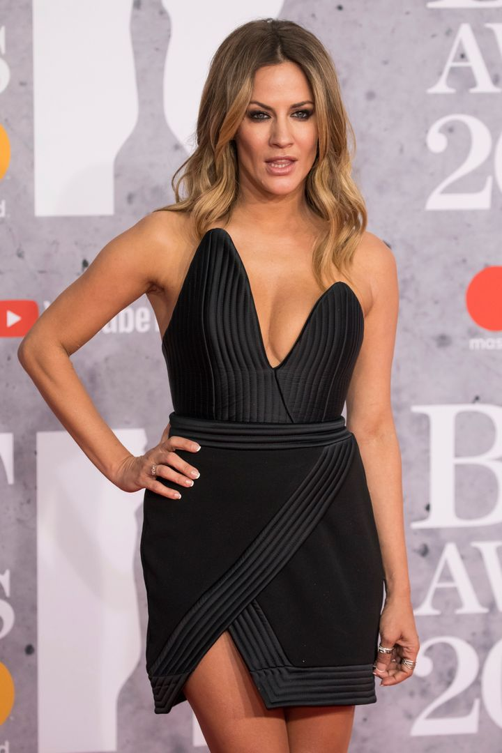 Caroline Flack at last year's Brit Awards
