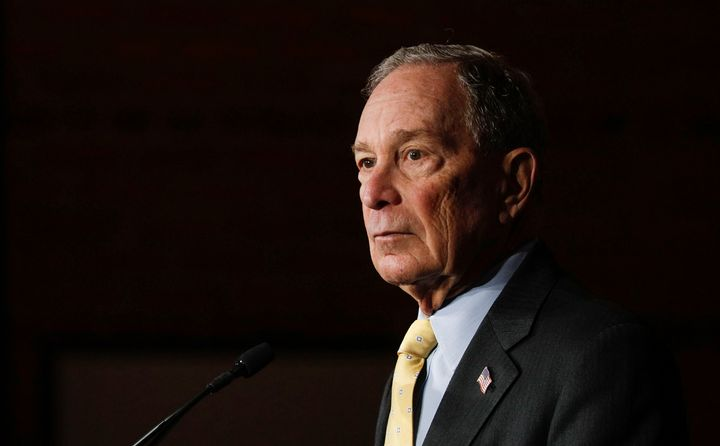 Michael Bloomberg, not so long ago a Republican, makes his debut on the debate stage with other contenders for this year's De