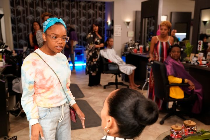 "In an episode of the show ""Black-ish,"" Bow takes Diane to get her hair done at the salon and wants to spend this time togethe"