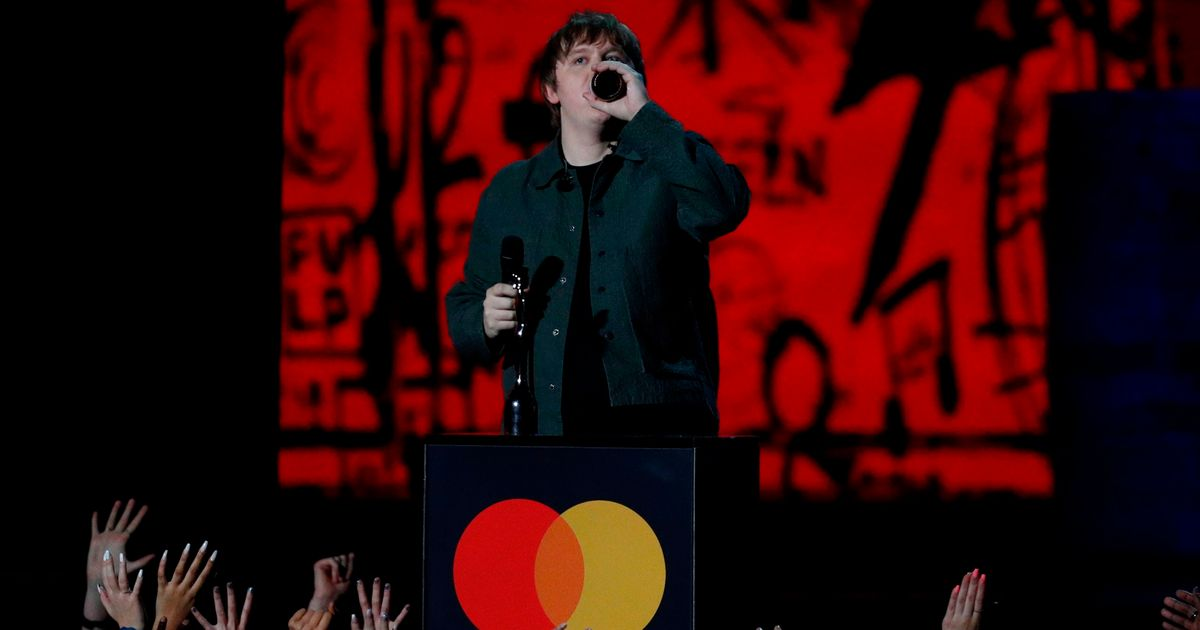 Brit Awards Bosses Forced To Pull Sound During Lewis Capaldi's Acceptance Speech
