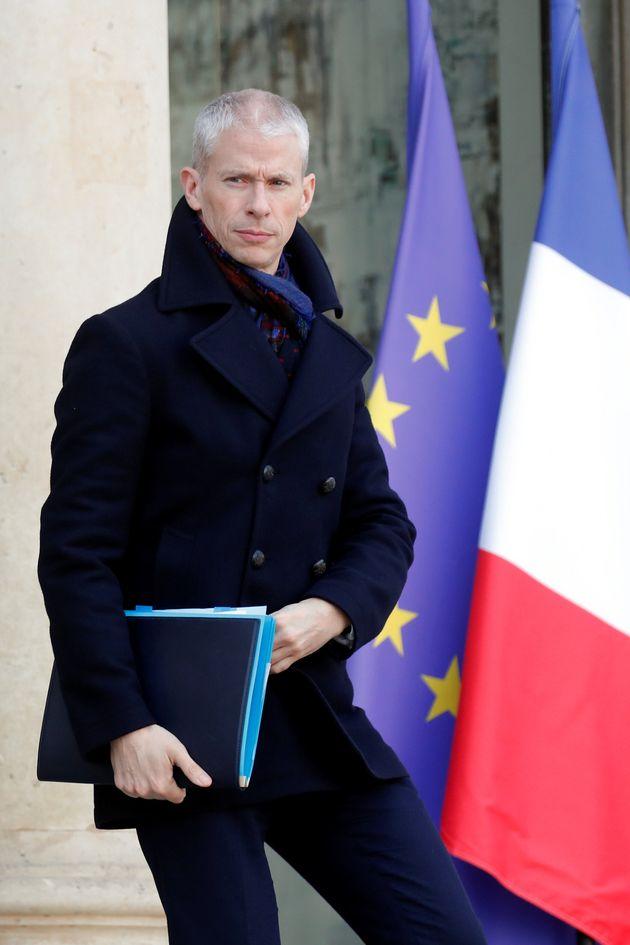 Franck Riester (ici le 24 janvier 2020 à l'Élysée) n'a pas apprécié...