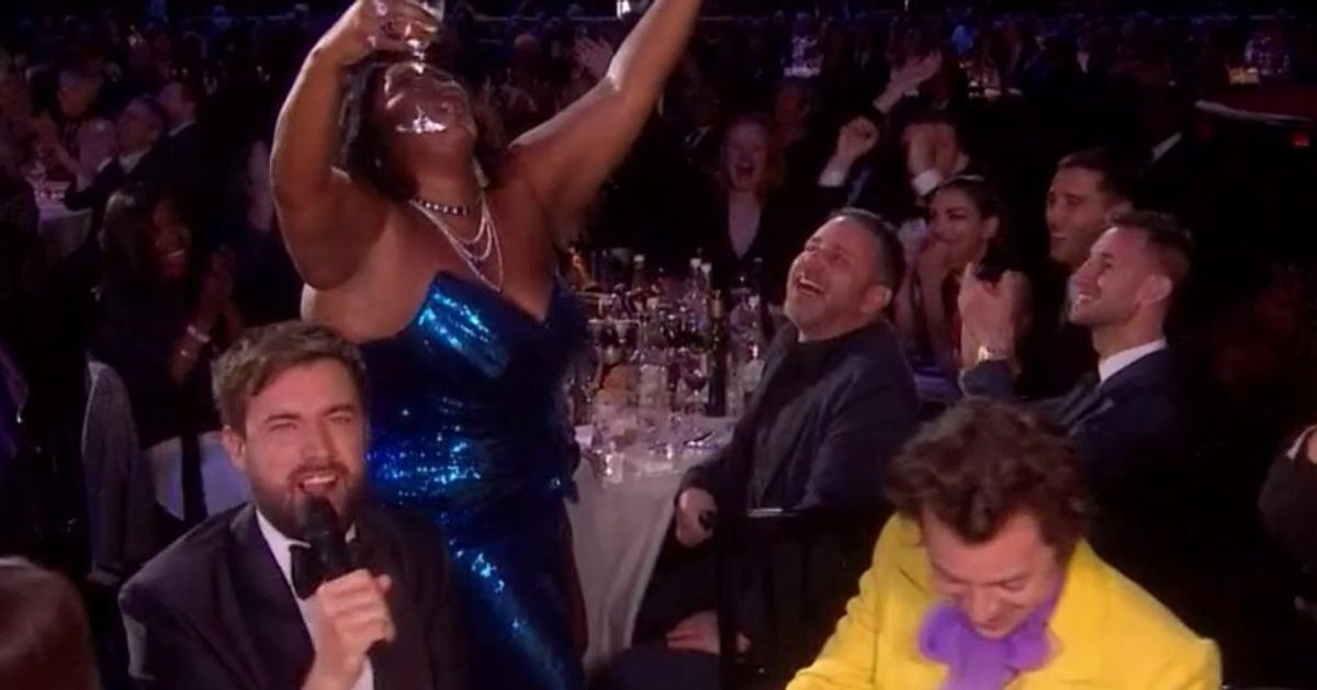 Lizzo And Harry Styles Didn't Win Any Brits, But They Still Delivered The Moment Of The Night