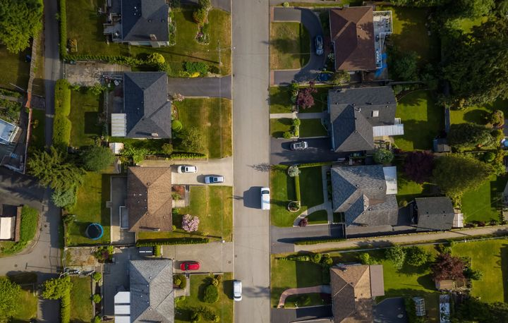 An aerial view of suburban homes in Port Moody, B.C. The federal government has made the mortgage stress test a little easier.