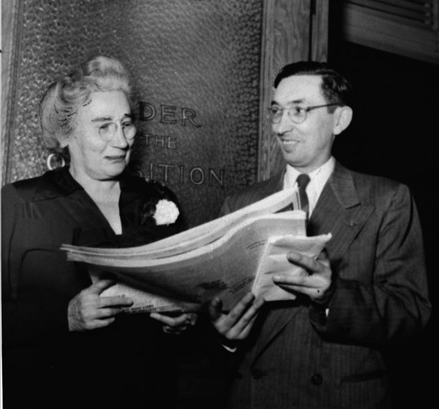 Ontario MPPs Agnes MacPhail and Eamon