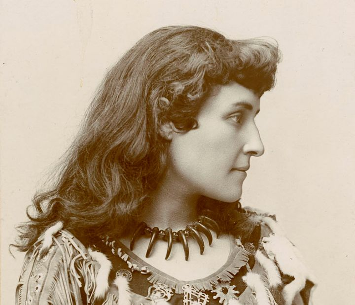 E. Pauline Johnson pictured in an archival photo.