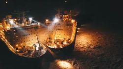 Ραντεβού στην Αρκτική: Εντυπωσιακές εικόνες από τη νυχτερινή συνάντηση δύο
