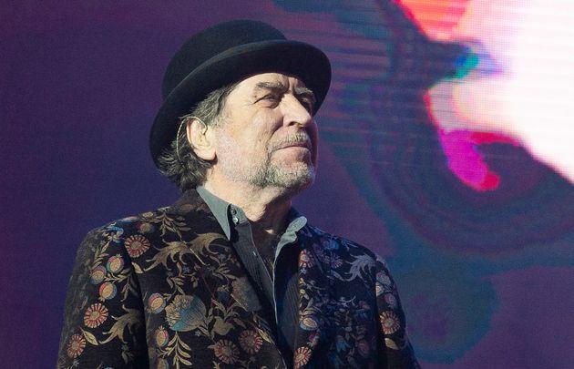 El cantante Joaquín Sabina, en un concierto en el Wizink Center de Madrid el 11 de febrero de