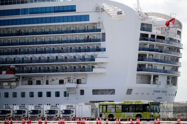 The Diamond Princess cruise ship in