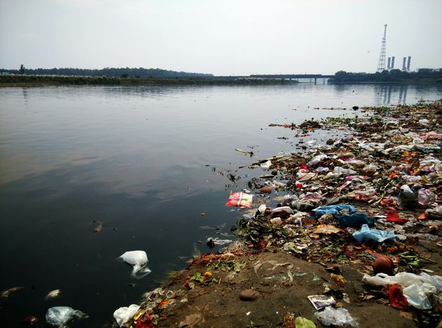 A file photo of the polluted Yamuna