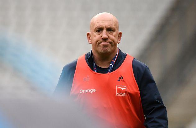 L'entraîneur de la France en charge de la défense Shaun Edwards, ici au Stade de France...