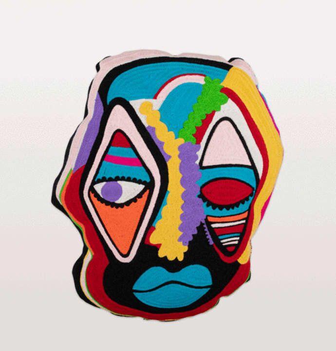 Face Mask Cushion Paris Essex, Trouva