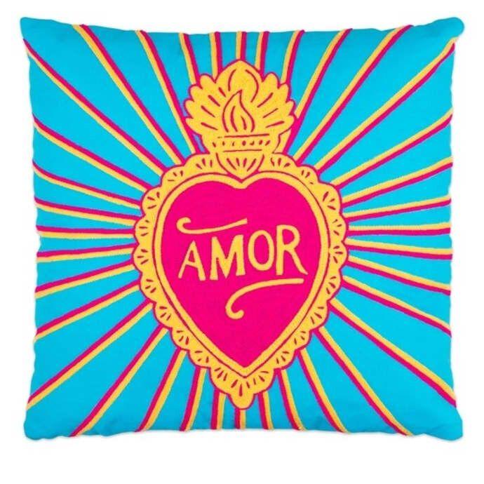 Amor Embroidered Cushion, Trouva