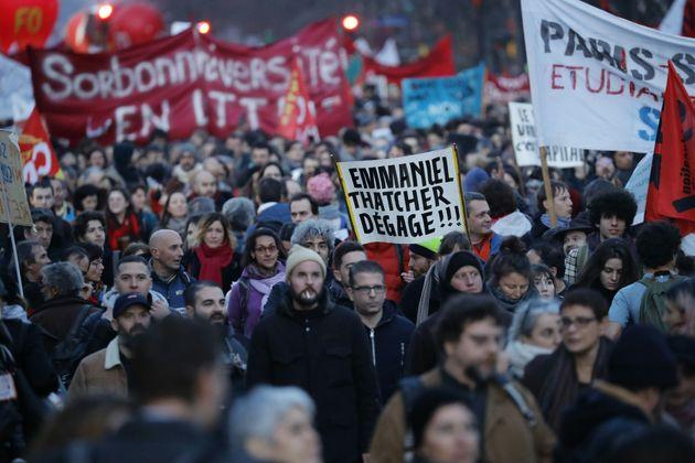 Protesta en París contra la reforma de las pensiones, el pasado 16 de enero.