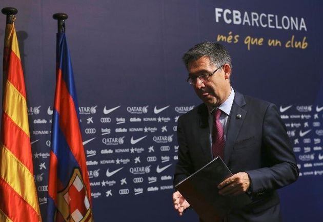 El presidente del FC Barcelona Josep Maria