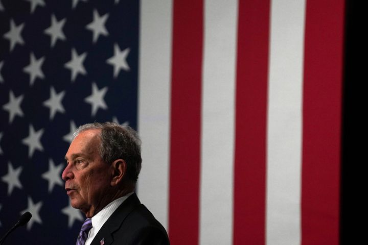 Democratic presidential candidate Michael Bloomberg attends a campaign event at Buffalo Soldiers national museum in Houston,