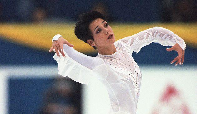 Sarah Abitbol, ici aux championnats du monde de patinage, en 2000, a lancé l'alerte dans un livre...