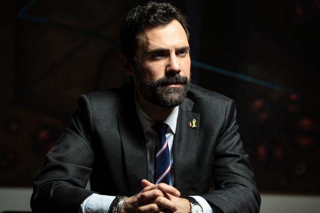 Roger Torrent posa tras la