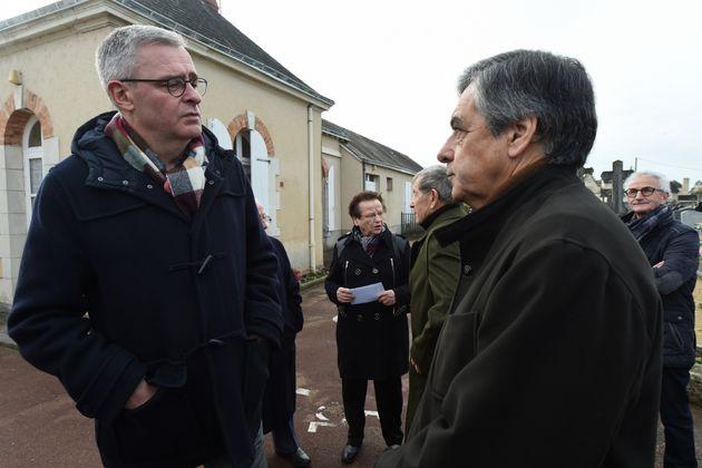 Marc Joulaud à gauche et François Fillon à