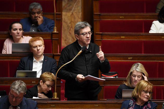 Jean-Luc Mélenchon à l'Assemblée nationale mercredi 19 février 2020 lors...