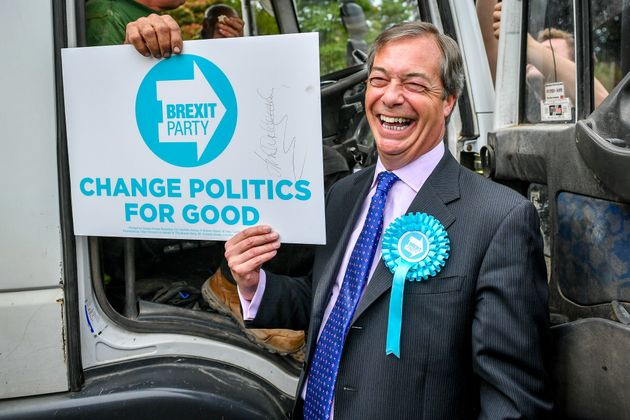 Nigel Farage Is Trying To Charge Supporters £35 For Old Brexit Party Placards
