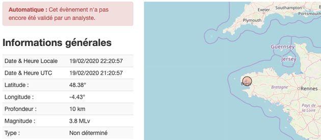 Un séisme de magnitude 3,8 a surpris Brest et ses