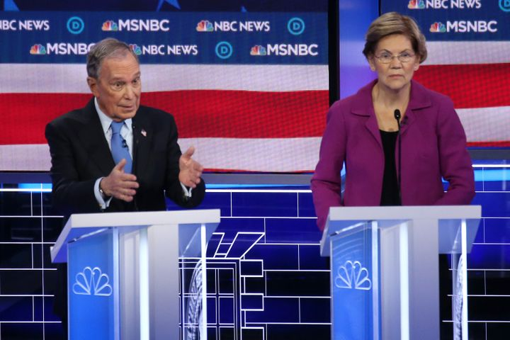 Democratic presidential candidates Mike Bloomberg and Sen. Elizabeth Warren (D-Mass.) sparred over nondisclosure agreements a