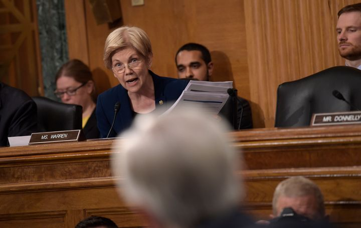 In 2016, Senate Banking Committee member Elizabeth Warren (D-Mass.) questioned Wells Fargo CEO John Stumpf during a hearing o