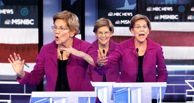 Elizabeth Warren en forme au 9e débat des primaires