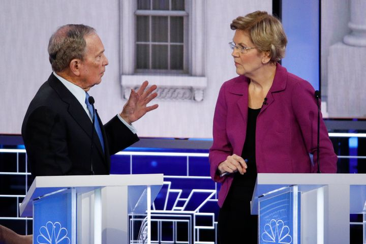 Sen. Elizabeth Warren (D-Mass.) wasn't the only one to take a jab at debate stage newcomer Mike Bloomberg, but she hit him ea